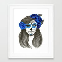 sugar skull Framed Art Prints featuring Sugar Skull by Lidiane Dutra
