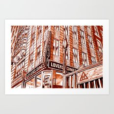 Lovers Diner Art Print