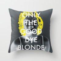 blondie Throw Pillows featuring Blondie by J_Cat