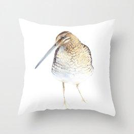 Snipe Bird Throw Pillow
