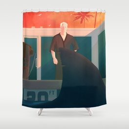 Feed the Ego Shower Curtain