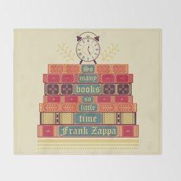 So many books - Frank Zappa Throw Blanket