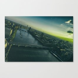 Sunset, in London Canvas Print