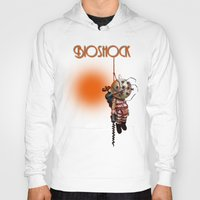bioshock Hoodies featuring sunset bioshock by sgrunfo