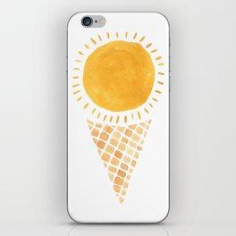 Sun Ice Cream Cone iPhone Skin