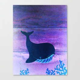 The Whale in the Paint Chip Canvas Print