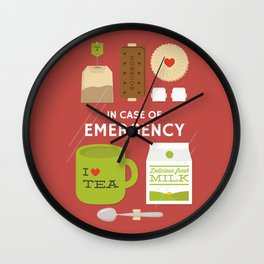 Emergency Tea Wall Clock