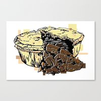 pie Canvas Prints featuring Pie by Kat Hassell