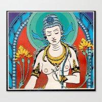 buddhism Canvas Prints featuring Buddhism by Panda Cool