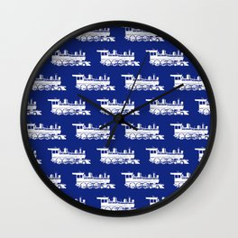 Steam Locomotives // Blue Wall Clock