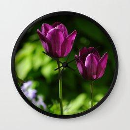 Three Tulips Wall Clock