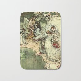 """Titania"" by Arthur Rackham From Shakespeare Bath Mat"