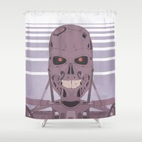 terminator Shower Curtains featuring Terminator  by avoid peril