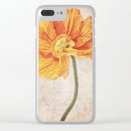 Bella orange Clear iPhone Case