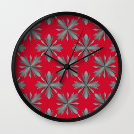 Medieval Iron Crosses Pattern Wall Clock