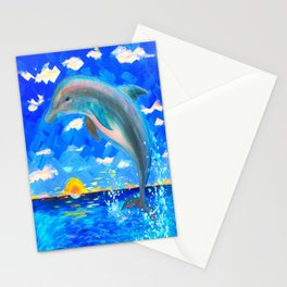 Baby Dolphin 5D Radiance Stationery Cards