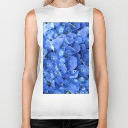 Gorgeous Baby Blue Hydrangeas  Floral Art Biker Tank