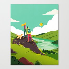 How to be Happy I Canvas Print
