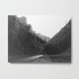 Gorge B&W Metal Print
