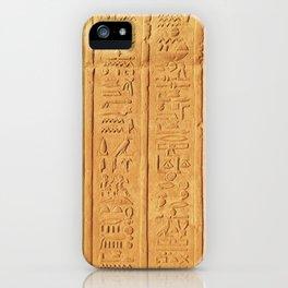 Hyerogliph iPhone Case
