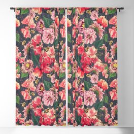 Vintage Flowers and Bees Blackout Curtain