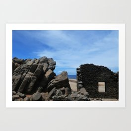 Bushiribana Ruins Art Print
