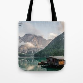 Mountain Lake Cabin Retreat Tote Bag