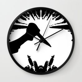 Slashing Knife In Hand Wall Clock