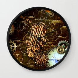 Steampunk, micropphone Wall Clock