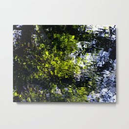 Ripples - abstract reflection of trees in moving water Metal Print