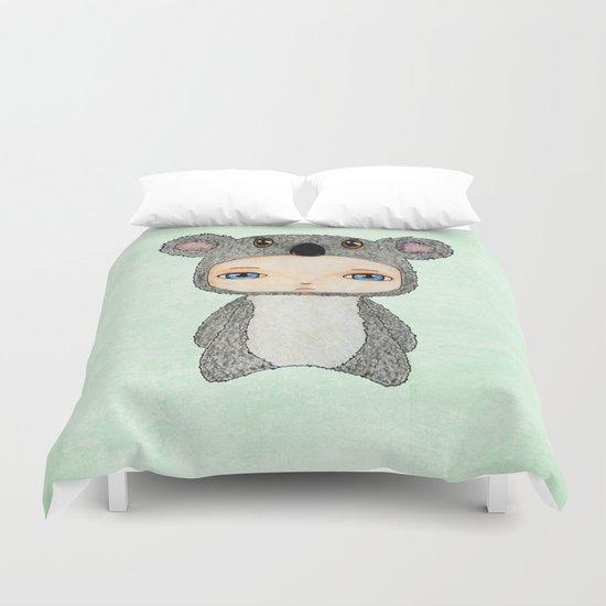 A Boy - Koala Duvet Cover