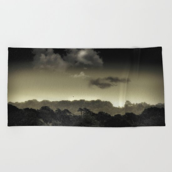 Stored in the Cloud Beach Towel