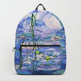 Claude Monet Water Lilies French Impressionist Art Backpack