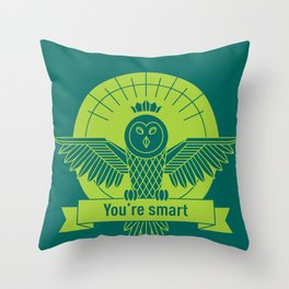 smart owl 2 Throw Pillow