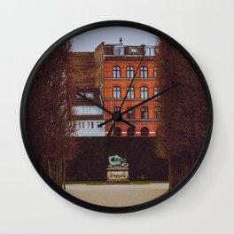 Rosenborg Castle Gardens, Copenhagen, Denmark. Wall Clock