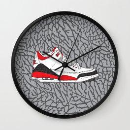 Jordan 3 Fire Red Wall Clock