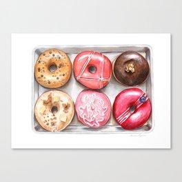 Glorious Glazed Donuts Canvas Print