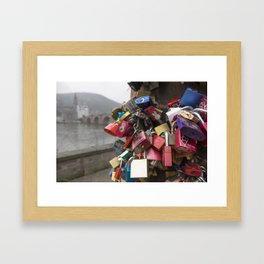 Heidelberg Love Locks Framed Art Print