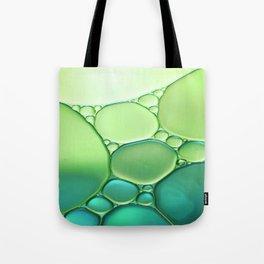 Jade Ombre Bubbles Tote Bag