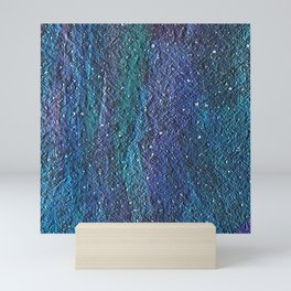Salted Blue Green Texture Mini Art Print