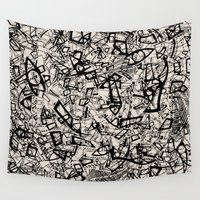 newspaper Wall Tapestries featuring - newspaper - by Magdalla Del Fresto
