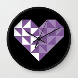 polygons in my heart Wall Clock