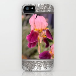 Tall Bearded Iris named Indian Chief iPhone Case