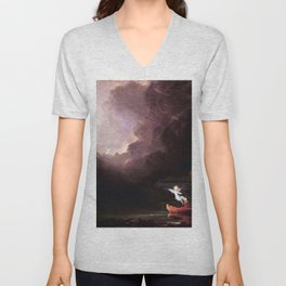 Voyage of Life: Old Age No. 4 of 4 by Thomas Cole Unisex V-Neck