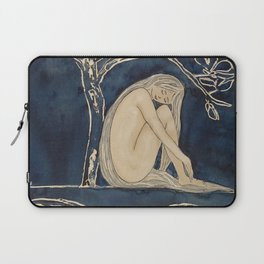 Girl sleeping under magnolia flowers Laptop Sleeve