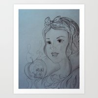 Snow White and The Apple Art Print