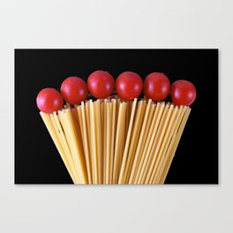 Spaghetti and tomatoes Canvas Print