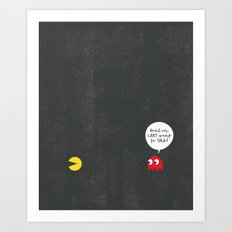 Pac-Man & the Overly Friendly Ghost Art Print