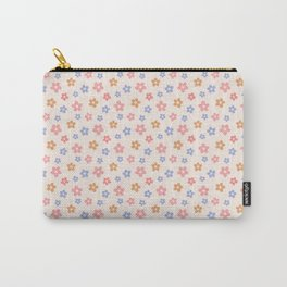 Colourful Floral Pattern Carry-All Pouch