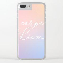 Carpe diem Clear iPhone Case